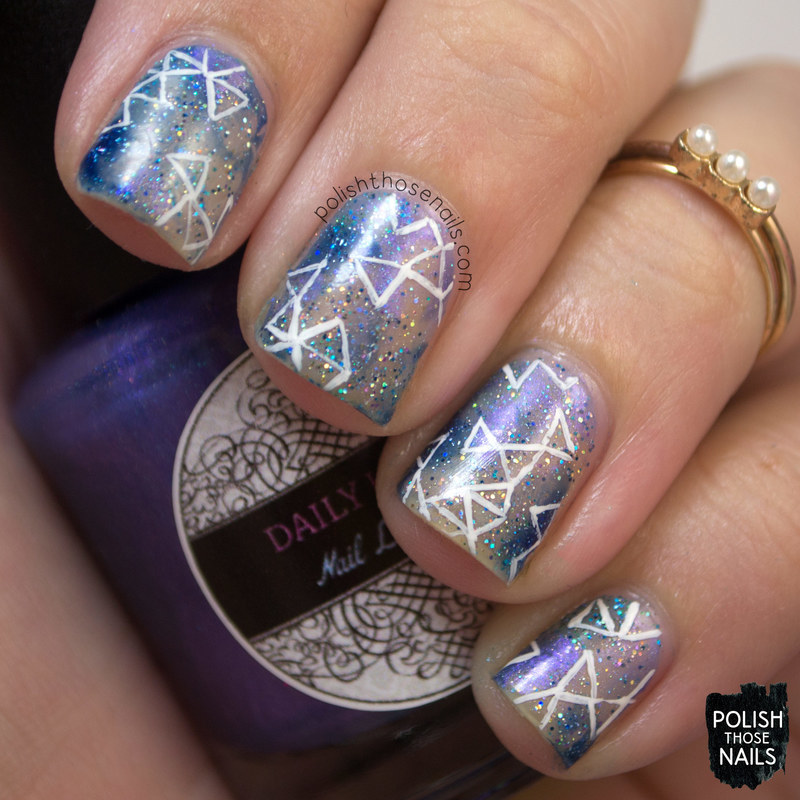 Fractal Negatives nail art by Marisa  Cavanaugh
