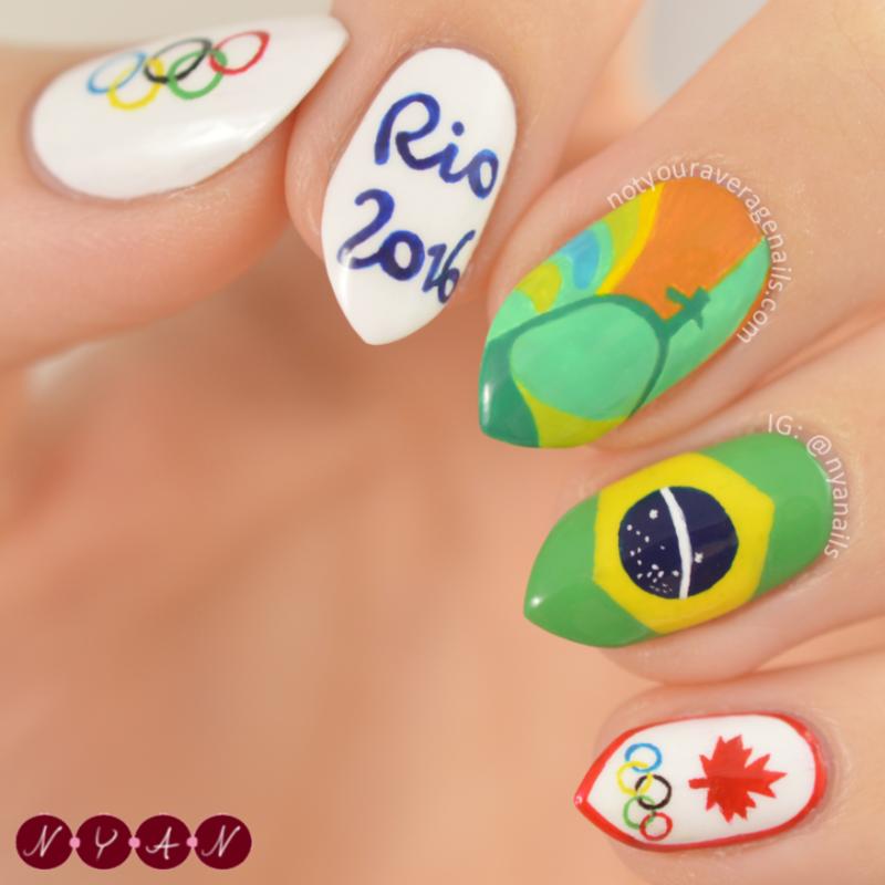 Rio 2016 nail art by Becca (nyanails)