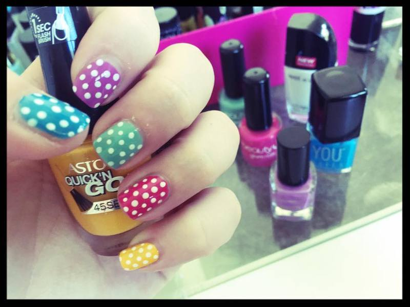Candy Dots nail art by SakaNail