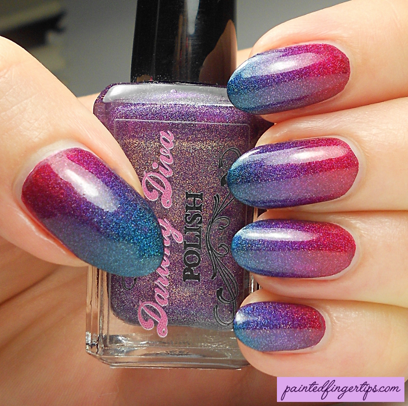 Holo Gradient nail art by Kerry_Fingertips