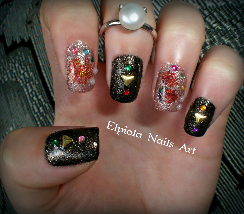 Roses Aren't Red nail art by Elpiola Lluka