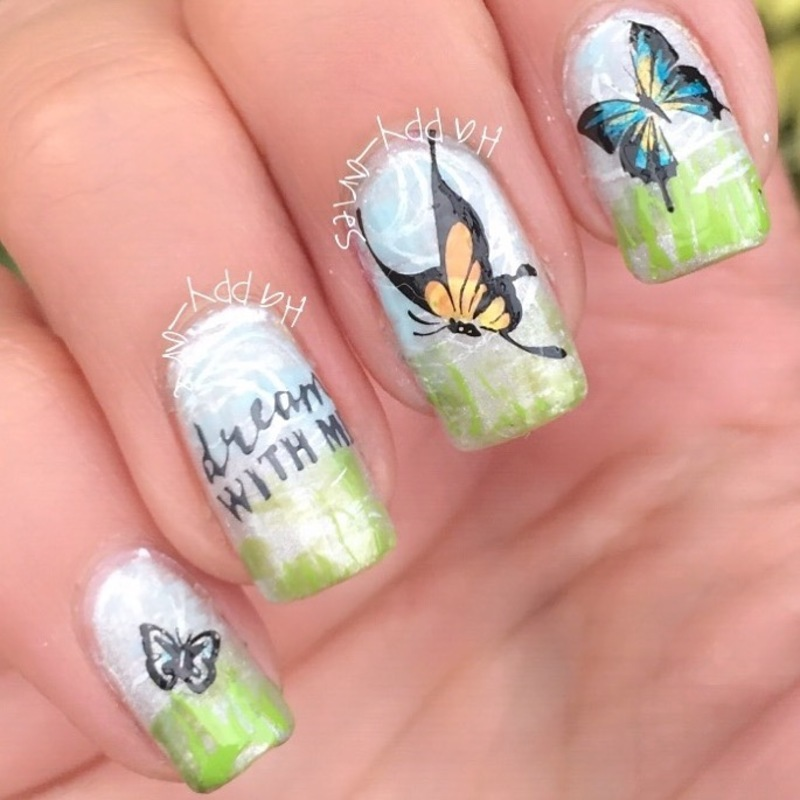Dream with me  nail art by Happy_aries