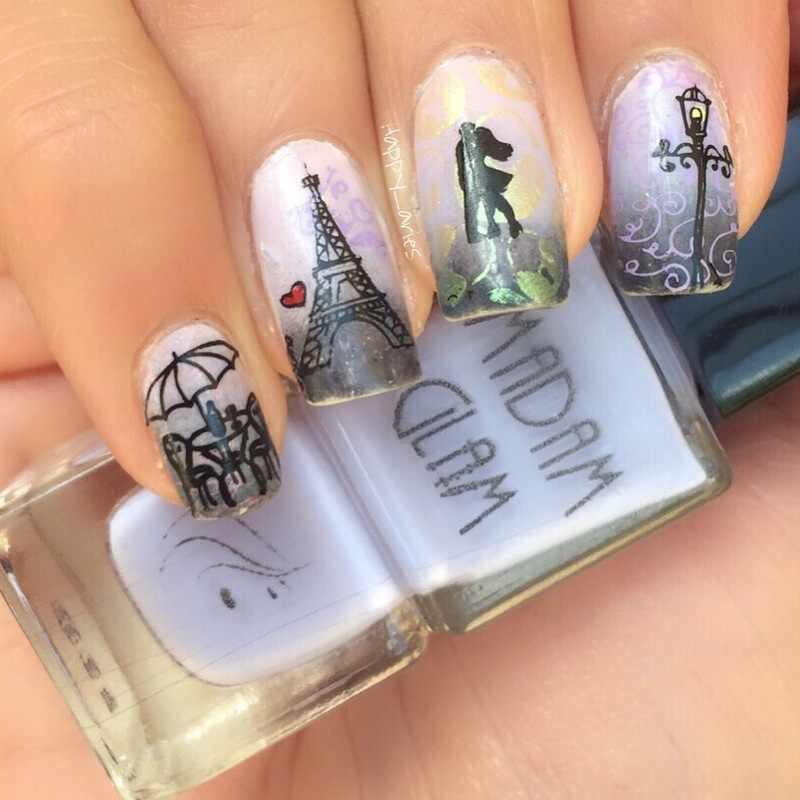 Paris in Love nail art by Happy_aries