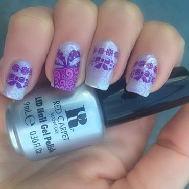 Purple bows  nail art by Happy_aries
