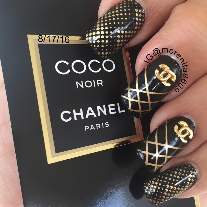 Nails inspired by Chanel 💅🏼 nail art by Morenita  Morena