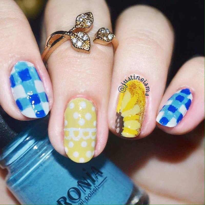 Picnic nail art by ℐustine