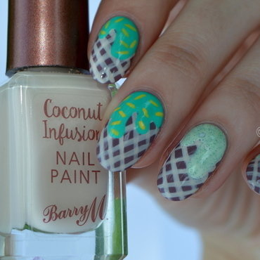 Mint Ice Cream Nails  nail art by Furious Filer