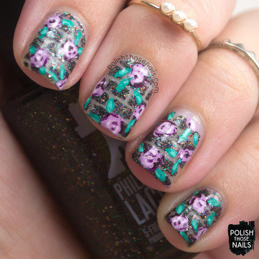 Brick glitter purple rose negative space nail art 4 thumb370f