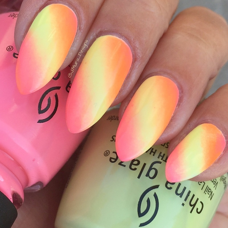 Sun Rays nail art by JMura_Designs
