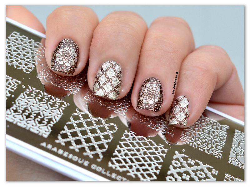 Arabesque nail art by Les ongles de B.