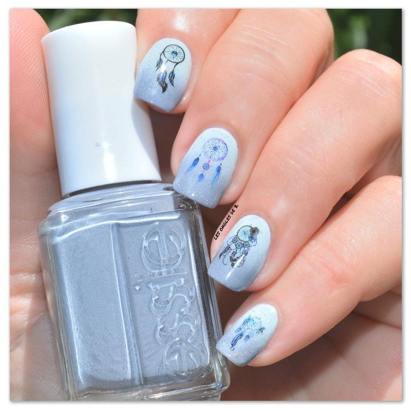 Attrape Rêves nail art by Les ongles de B.