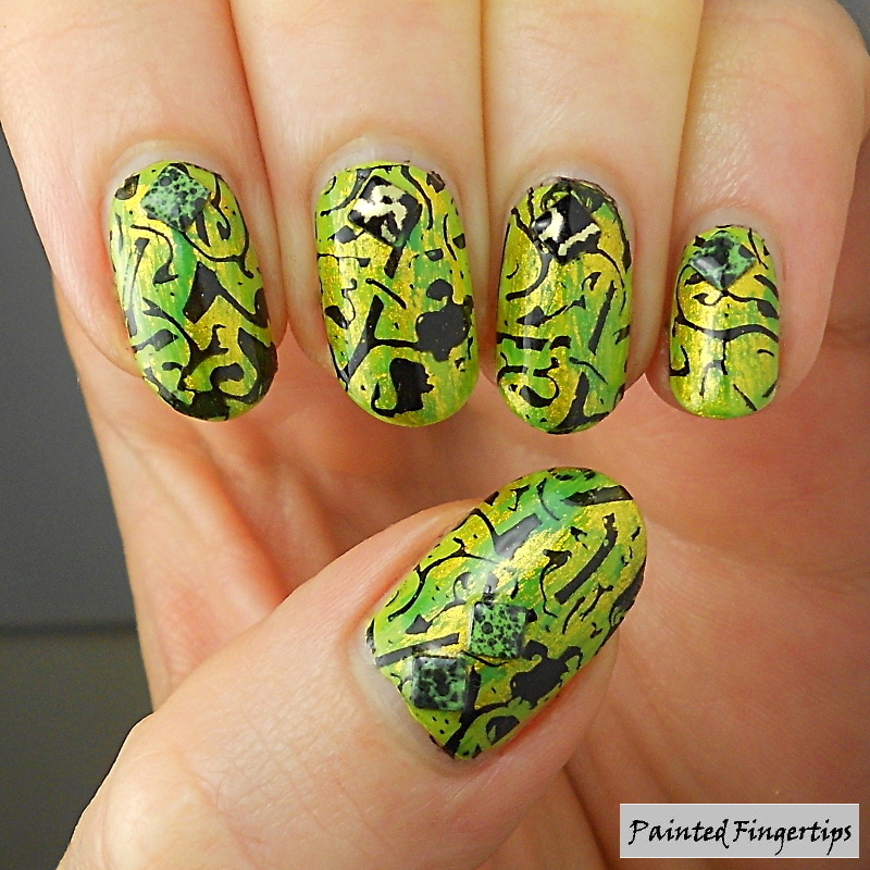 Crazy stamping nail art by Kerry_Fingertips