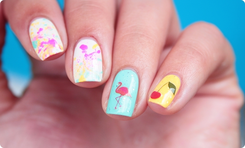 Easy Peasy Lemon Squeezy nail art by Romana