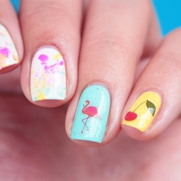 Easy Peasy Lemon Squeezy nail art by Romana