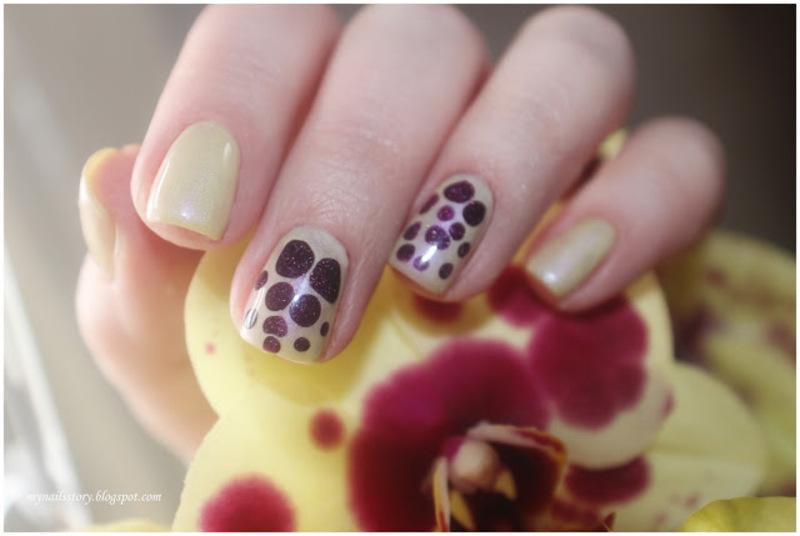 Blobbycure nail art by Ekaterina