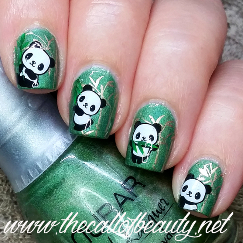 Panda Nails nail art by The Call of Beauty
