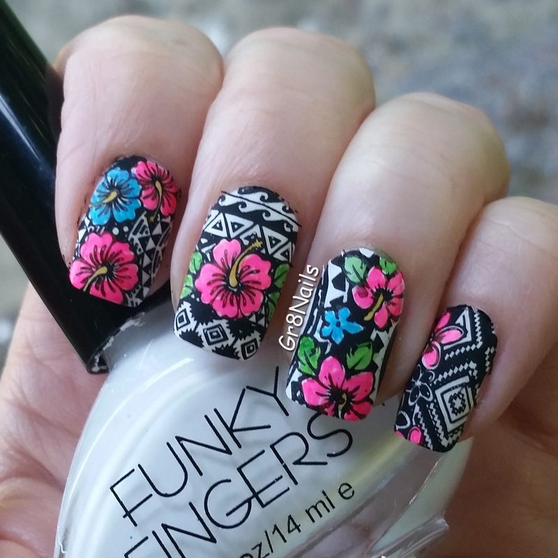 Tropical nail art by Gr8Nails