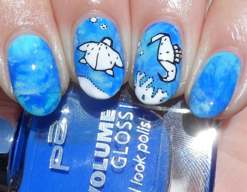 Origami under the Sea nail art by Plenty of Colors