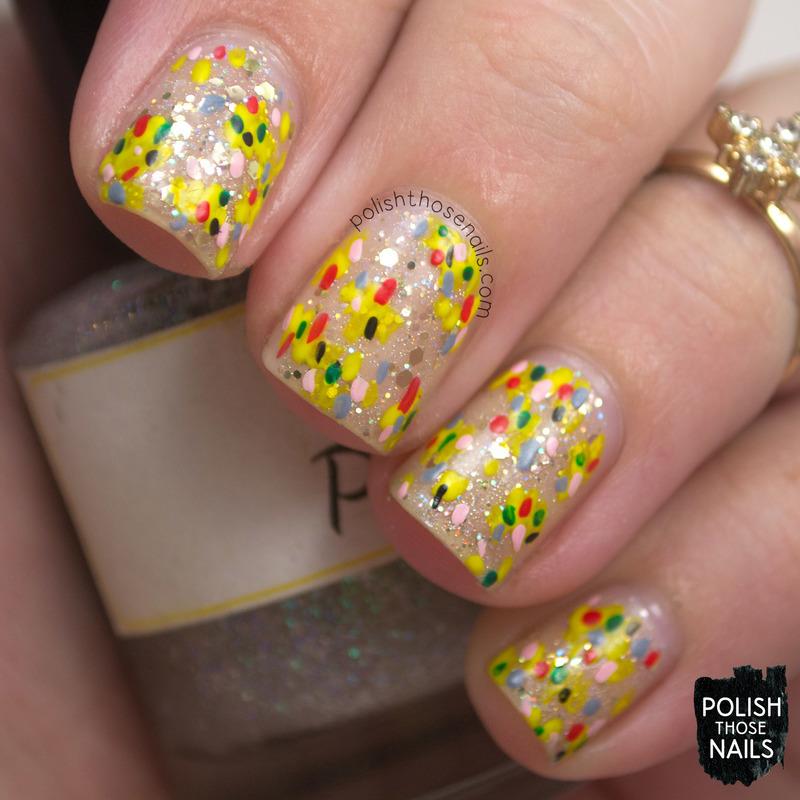 Negative Glitz nail art by Marisa  Cavanaugh