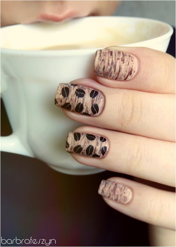 Monday Coffee nail art by barbrafeszyn