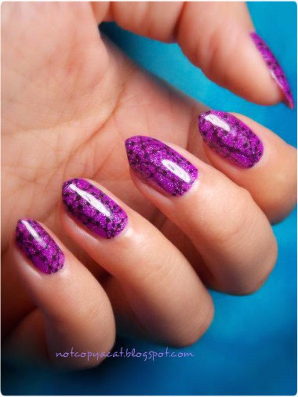 Constellations nail art by notcopyacat