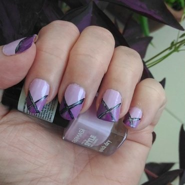 Mauve mania nail art by tigerlyly