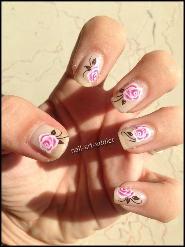 Nail Art : Water Decals nail art by SowNails