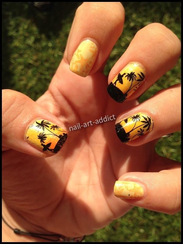 Nail Art : Stamping Summer nail art by SowNails