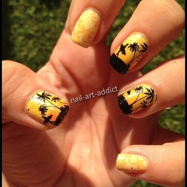 Nail 20art 20  20degrad c3 a9 20stamping 20summer 20time 201 thumb370f
