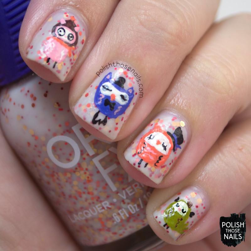 Orly Owls nail art by Marisa  Cavanaugh