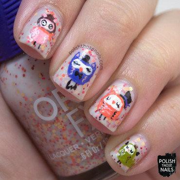 Orly owl free hand nail art 4 thumb370f