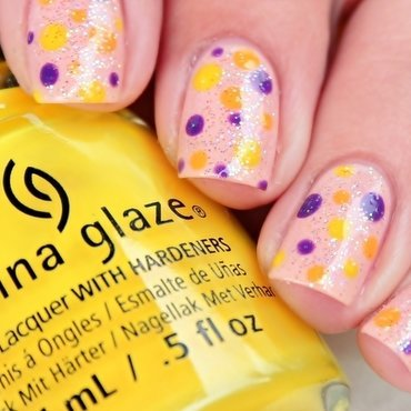 Summer Dotticure nail art by Romana