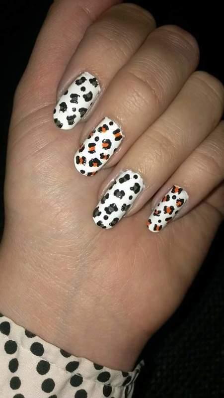 Leopard  nail art by Sabina Salomonsson