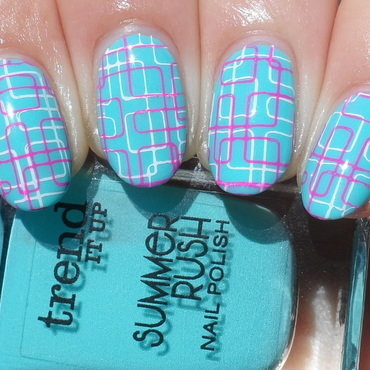 Double Stamping nail art by Plenty of Colors