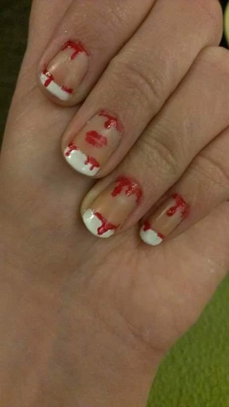Deadly kiss  nail art by Sabina Salomonsson