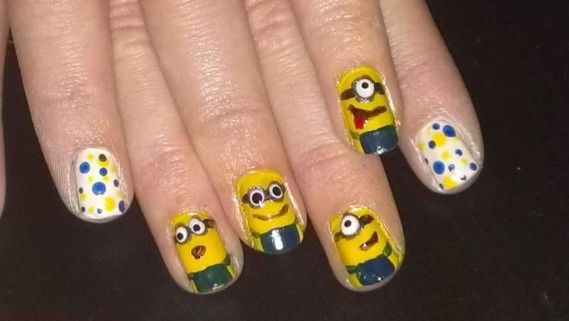 Minions  nail art by Sabina Salomonsson