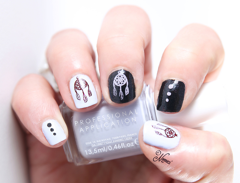 Dreamcatcher nail art by Nanneri