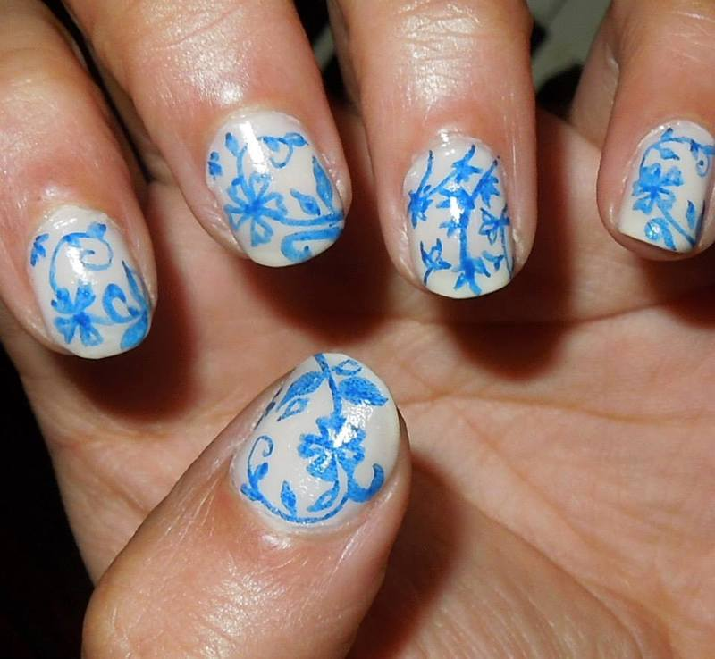 Fine China nail art by Zainab