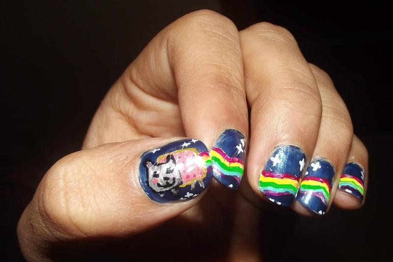 Nyan Nail nail art by Zainab