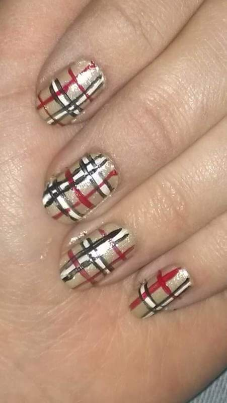 Scottish nail art by Sabina Salomonsson