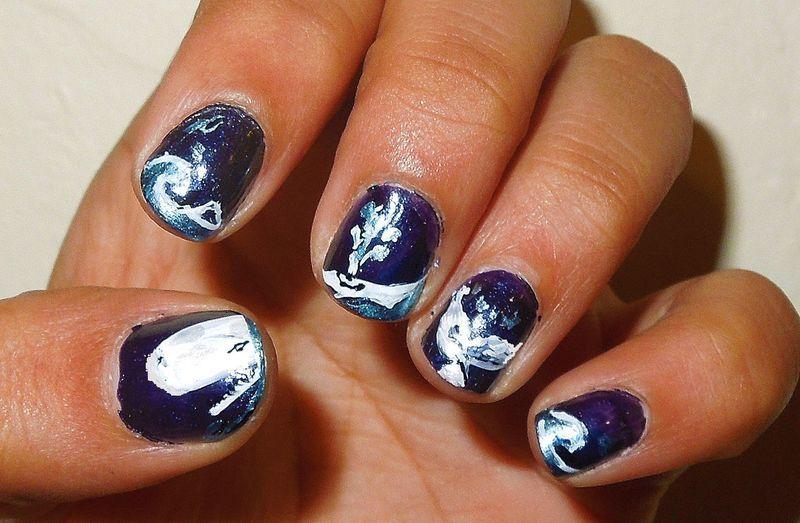 Leviathan nail art by Zainab