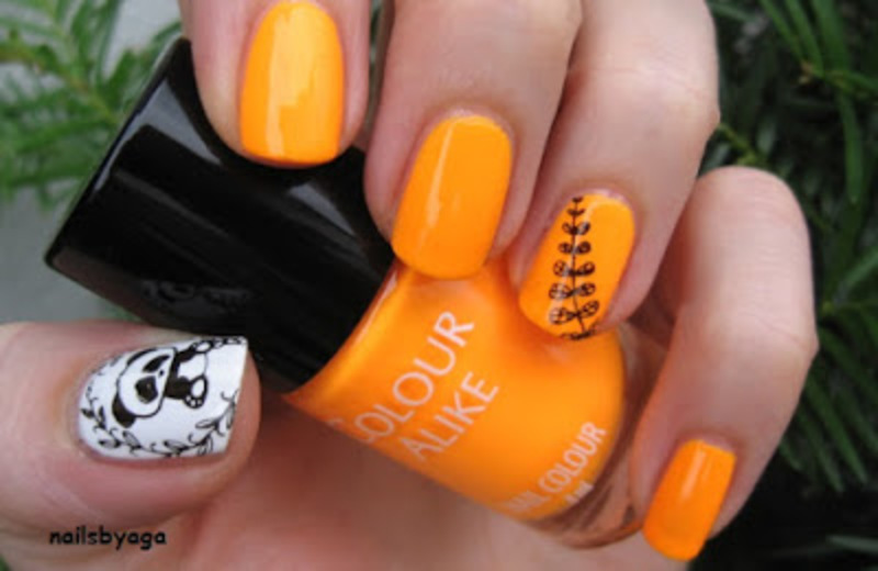 Colour Alike Orange Fizz nail art by agazar30
