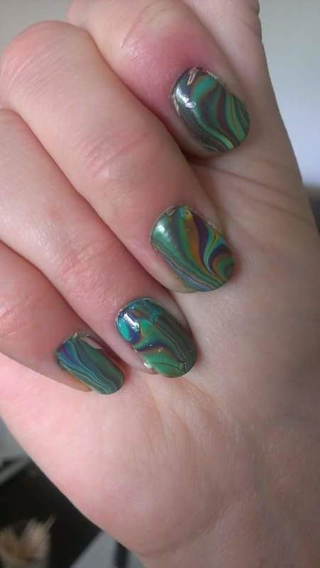 Northern lights  nail art by Sabina Salomonsson