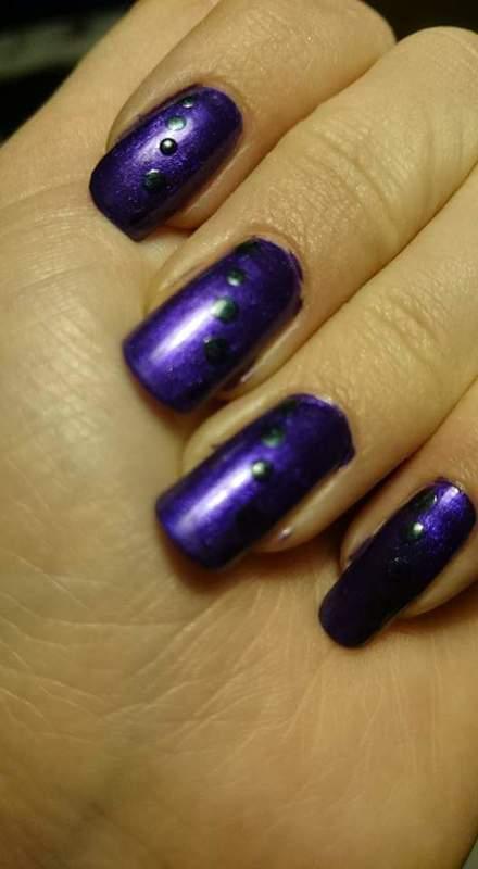 Purple fantasy  nail art by Sabina Salomonsson