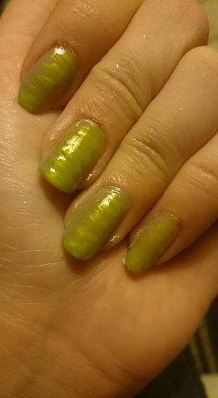 Lime drag  nail art by Sabina Salomonsson
