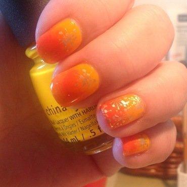 Sunny nail art by Ronit