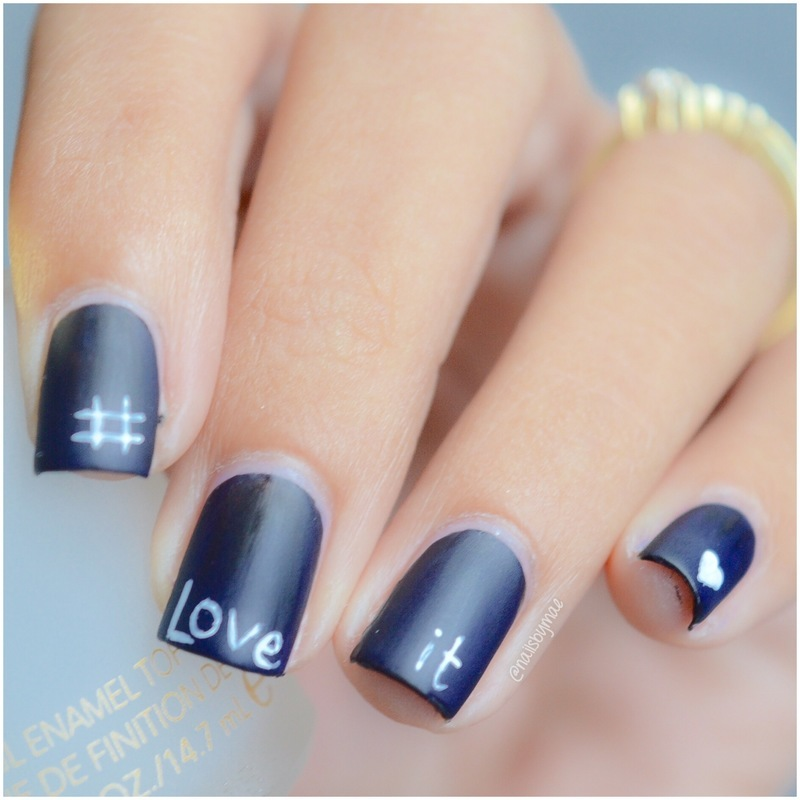 Chalkboard Nail Art #LoveIt nail art by Sheily (NailsByMae)