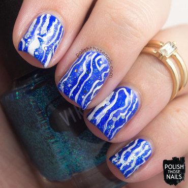 Frost Waves nail art by Marisa  Cavanaugh