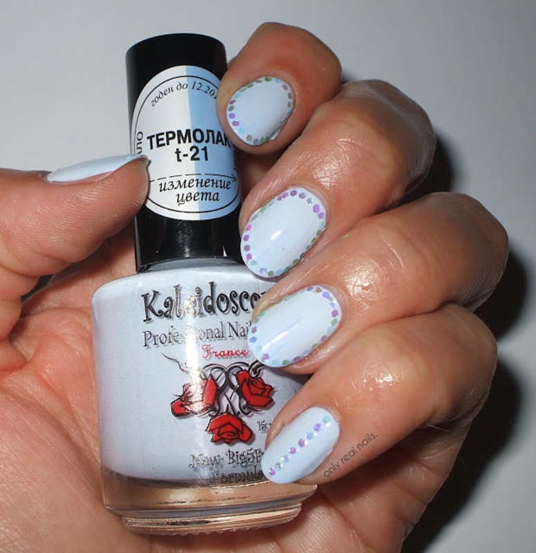 Termolak nail art by only real nails.