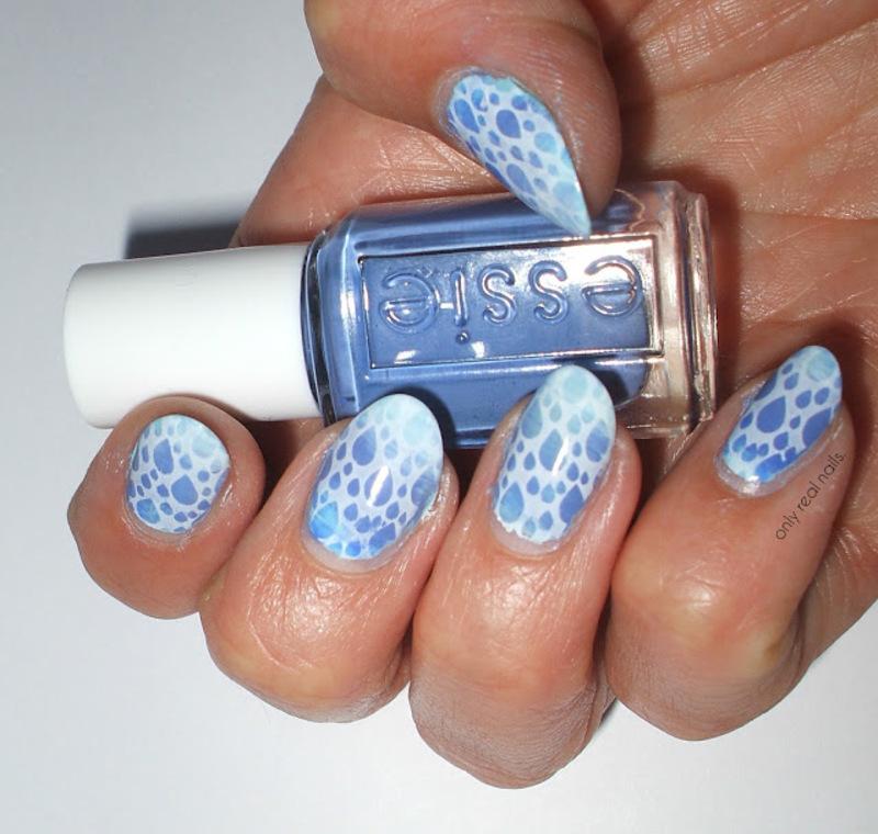 Raindrops nail art by only real nails.